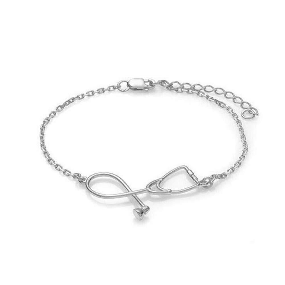 Stethoscope Bracelet,Fashion Bracelet Pendant For Doctor Medical Student Gift Jewelry
