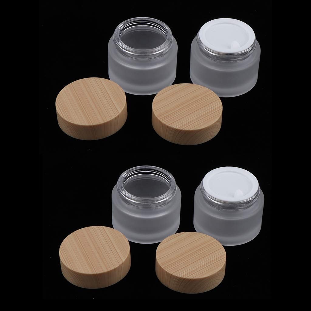 80d4cc46b60a Amazon.com : Fenteer Set of 4, Empty Refillable Containers with ...
