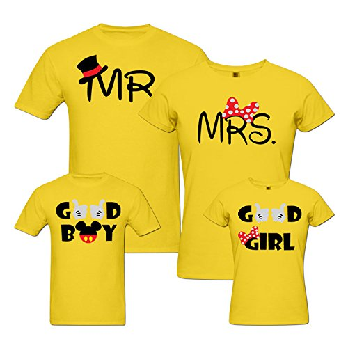 9865dd0a92eee pepperClub Family Tshirt - Set of 4 for Mom Dad and Kids  Amazon.in ...