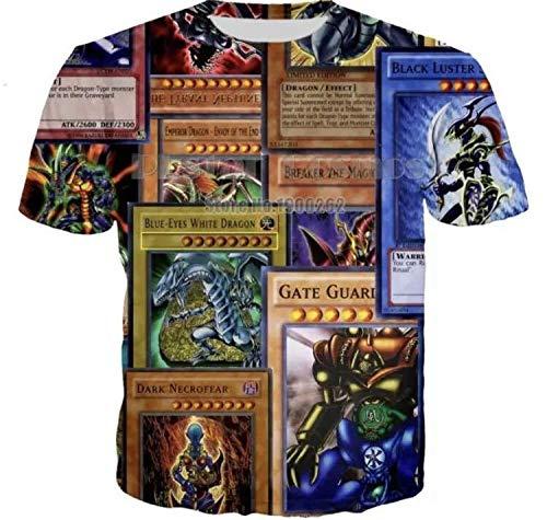 遊戯王カード Tシャツ Lサイズ 縦並びバージョン