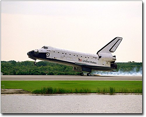 Space Landing Shuttle Atlantis (NASA STS-84 Space Shuttle Atlantis Landing 8x10 Silver Halide Photo Print)