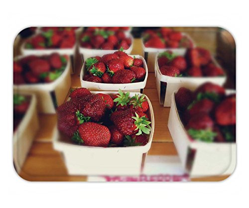 Beshowere Doormat fresh strawberries for sale at the farm stand boxes of red berries