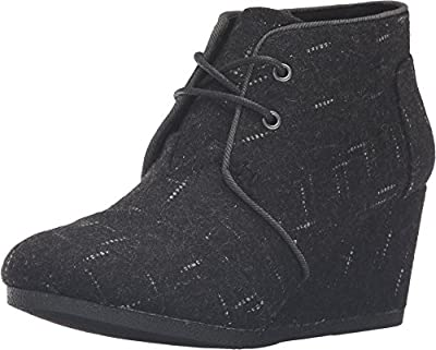 TOMS Desert Wedges Black Dotted Wool 10008889 Womens 12