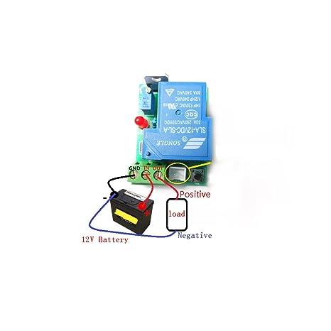 Oumefar Carte de Protection de Batterie de contr/ôleur de Basse Tension Coupure de Basse Tension contr/ôleur de Commutation Automatique pour la Maison et lindustrie pour la Protection de la Batterie