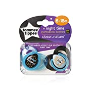 Tommee Tippee CTN Night Time Soothers 0-6m, 6-18m