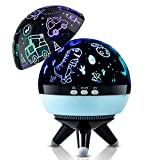Kids Projector Light,Dinosaur Night Light,Cars Projector Lamp for Baby 2 3 4 5 6 Years Old, 360 Degree Rotating 8 Colors Dimmable Night Lights for Bedroom,Night Lamp Gift for Kids Baby