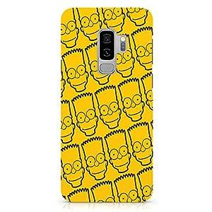 Loud Universe Bart Simpson Face Pattern Samsung S9 Plus Case The Simpsons Samsung S9 Plus Cover with 3d Wrap around Edges