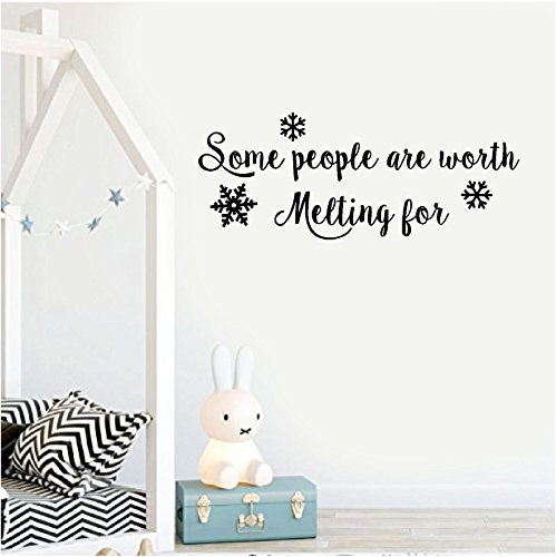 Simple Expressions Arts Some people are worth melting for snowflakes love inspirational motivational vinyl wall sticker decal art kids room playroom decor student wall scripture ()