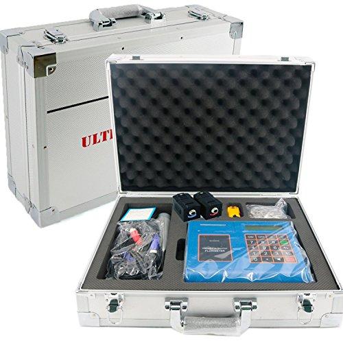 VTSYIQI TUF-2000P-TM-1-HT Portable Digital Ultrasonic Flowmeter Flow Meter Built-in Printer SD Card Pipe Diameter DN50 to 700mm High Temperature Medium clamp TM-1-HT -30 to 160 - Portable Ultrasonic Meter Flow