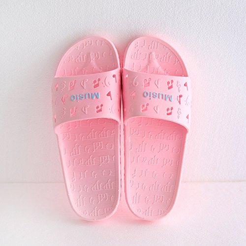 indoor 38 da e femmina adulti Cool bagno fankou outdoor musica 37 viaggio pantofole rosa da ciabatte per estate Home spesso ITqXY6