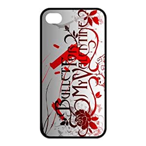 iStyle Zone- Bullet for My Valentine Snap-on TPU Rubber Coated Case Compatible with iPhone 4 / 4S Covers
