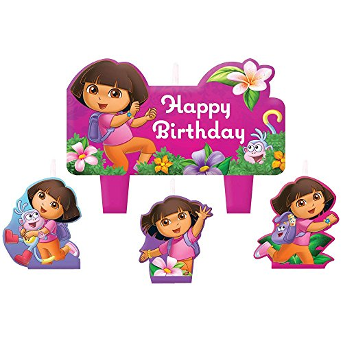 Dora the Explorer 'Flower Adventure' Mini Molded Cake Candles -