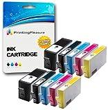 Printing Pleasure 10 (2 SETS) Compatible Ink Cartridges Replacement for HP 364XL Photosmart 7510 7520 B8550 B8553 C5380 C5383 C6380 C6383 D5460 D5463 D7560 Premium C309a C310a C510a, High Capacity
