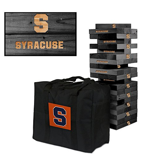 NCAA Syracuse Orange 850379Syracuse University Orange Onyx Stained Giant Wooden Tumble Tower Game, Multicolor, One Size by Victory Tailgate