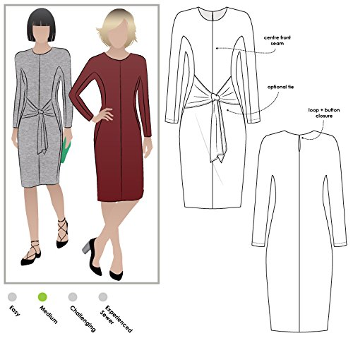 Style Arc Sewing Pattern - Serena Knit Dress (Sizes 04-16) - Click for Other Sizes Available (Dress Pattern Front)