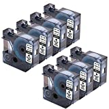 7 Pack Replacement Dymo D1 45013 S0720530 Refill Cartridge Black on White Label Tape for Dymo Label Maker 160 210D 280 260P 360D 420P 450D  Wireless PnP 500TS 450DUO,1/2 Inch