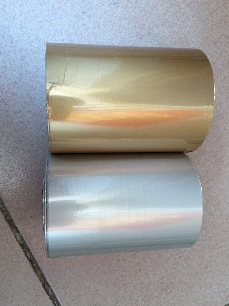 Matte Gold and Matte Silver Tool Parts 8cm Width Hot Foil Stamping Paper Heat Transfer Anodized Gilded Paper with Shipping Cost Fee - Color: 2 Rolls Matte Gold