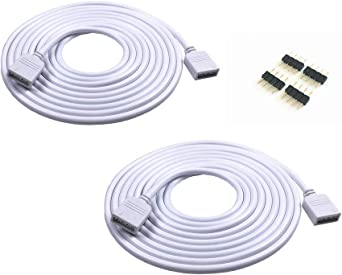 5M 16.4ft 5 Color RGBW Extension Cable LED Strip Connector Extension Cable Cord Wire 5 Pin LED Connector for SMD 5050 3528 2835 RGBW LED Light Strip