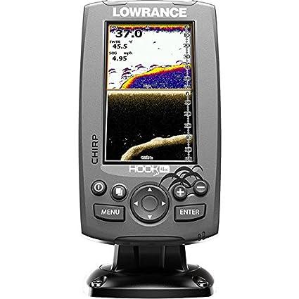 lowrance 000 12640 001 hook 4x sonar w mid hi xdcr amazon ca cell