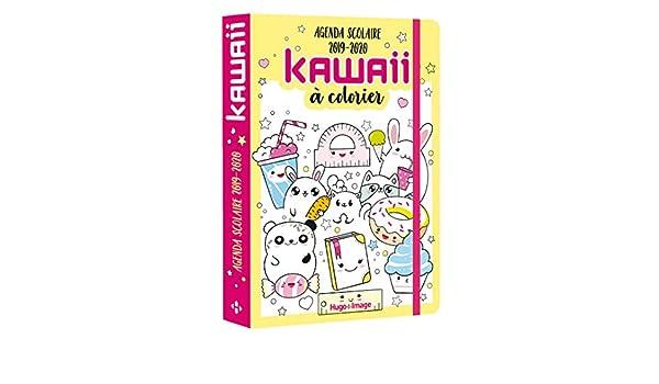 Agenda scolaire kawaii à colorier: Amazon.es: Hugo Image ...