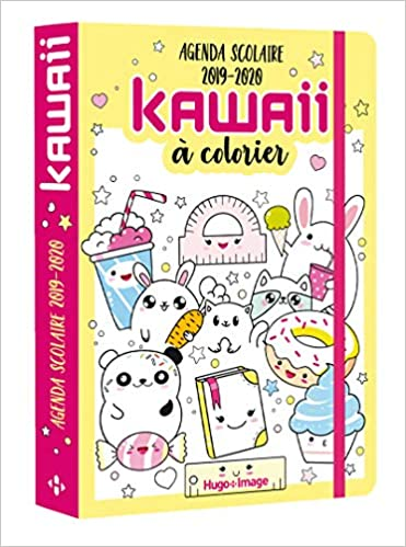 Kawaii Coloriage Livre.Agenda Scolaire Kawai A Colorier 2019 2020 Amazon Fr