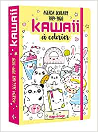 Agenda scolaire kawaii à colorier: Amazon.es: Hugo Image ...