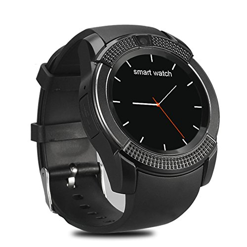 V8 Smart Watch Wireless Bluetooth Smart Watch 0.3M Camera (Black)