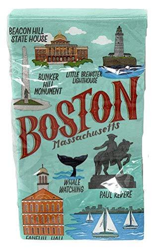 Boston Massachusetts Theme Paper Guest Towel Napkins]()