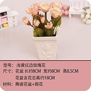 Mqlerry Fleur Artificielle Mariage Interieur Deco Roses Belle Table