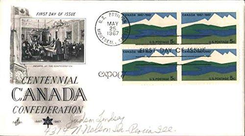 Centennial Canada Confederation Block of Stamps Original First Day Cover 1967