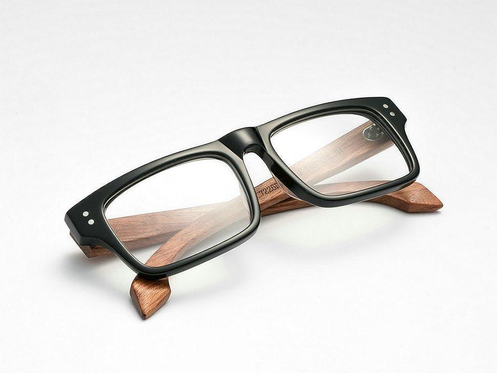 cf36427127ba Amazon.com: MINCL/Stylish Woodgrain Eyeglasses Frame Real Wooden Glasses - yhl (black wood-plain, black wood-plain): Clothing