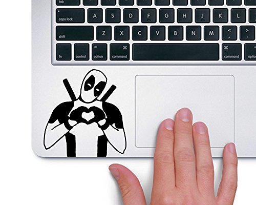 Price comparison product image Deadpool Heart Hands Marvel Superhero - Trackpad Apple Macbook Laptop Vinyl Sticker Decal