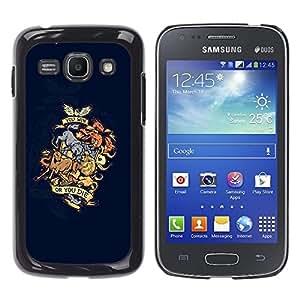 "For Samsung Galaxy Ace 3 , S-type Ganas o mueres Dragón Animal Crest"" - Arte & diseño plástico duro Fundas Cover Cubre Hard Case Cover"