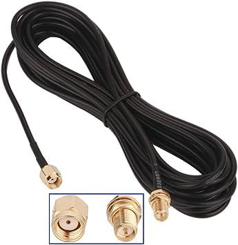 GTIWUNG Cable de Extensión de Antena SMA, 10m SMA Macho a SMA Hembra Cable Coaxial, Cable Alargador de Antena, WiFi FPV Cable de Antena de RP-SMA, ...