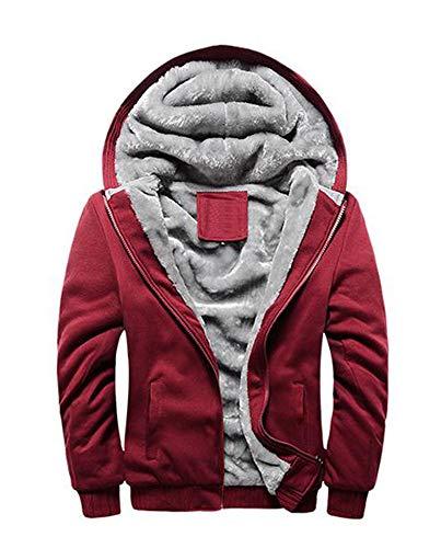 Rosso Adolescente Caldo Maglione Felpa Cerniera Famesale Cappotto Uomo BRFRwYWgqT