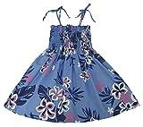 RJC Girls Floral Leaf Elastic Tube Dress Blue 7