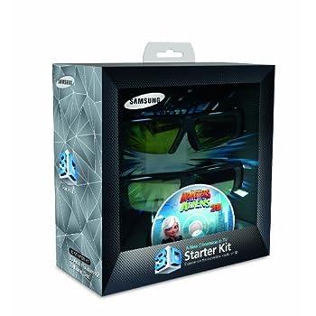 Image of Samsung SSG-P2100T Battery 3-D Glass Kit - Black (Compatible with 2010 3D TVs) 3D Glasses