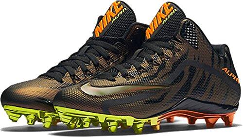 Nike Herren Alpha Pro 2 Fußballschuh Metallisches Kupfer / Volt-Total Orange-Schwarz