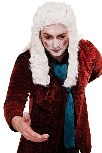 [WIG ME UP! Women's Wig Me Up Fancy Wig Lord Baroque Aristocrat Judge King Noble One Size Fits All] (Aristocrat Halloween Costume)