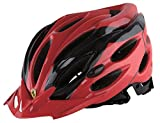 Ferrari Adult Sports Bicycle Cycling, Road/ Mountain Helmet, Protecting, Lightweight, Helmet, Black/Red.