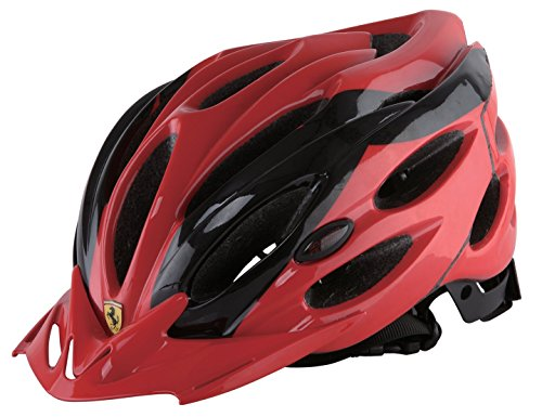 Ferrari Adult Sports Bicycle Cycling, Road/ Mountain Helmet, Protecting, Lightweight, Helmet, Black/Red. (Ferrari Road Bikes)