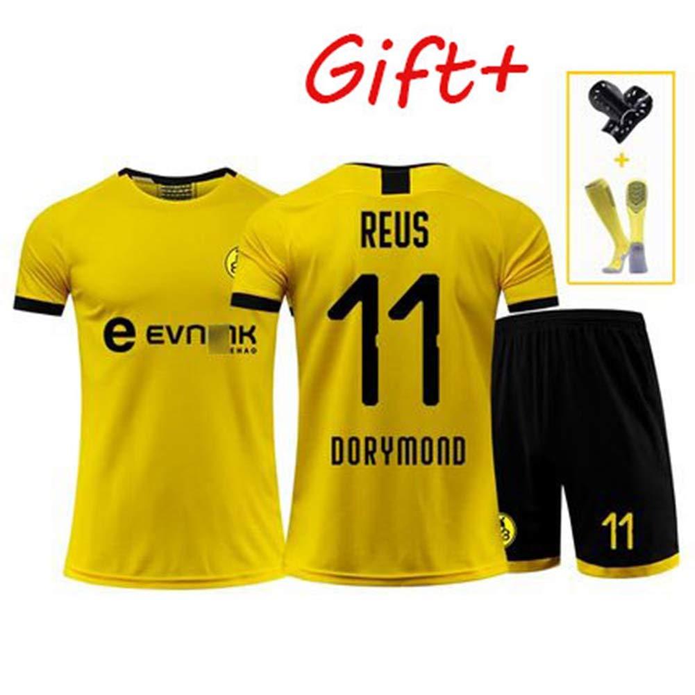 Adult190~195 HS-HCF.HW Football Wear Anzug Dortmund 11# 614 Marco Reus M/änner Kurz/ärmeliges Wettbewerb Anzug Trainingsanzug Kinder Jersey Uniform,2XL