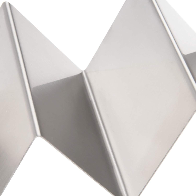 2Pcs Forma d onda in acciaio INOX taco Holder display stand Hold 3/duro o Soft Shell Tacos cibo cucina rack Shell Acciaio inossidabile