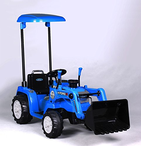 Tractor with Loader, Battery Powered Wheel 12V Ride On, 50.4