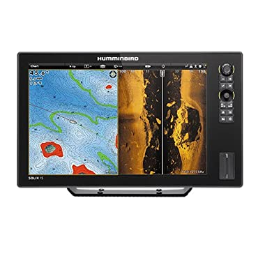 Humminbird 410420-1 Solix 15 CHIRP Mega Si GPS Fishing Charts & Maps