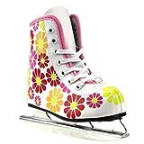 American Athletic Shoe Girl's Little Rocket Double Runner Ice Skates, White