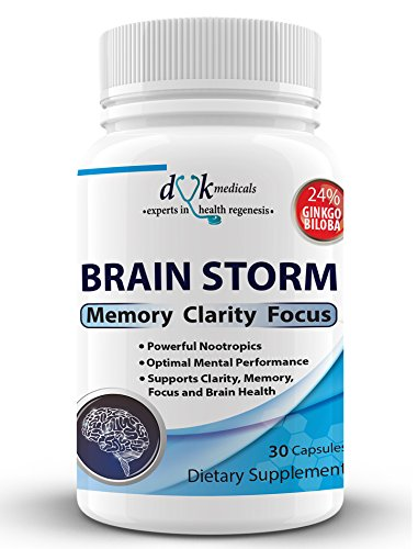 Brain Storm: Advanced Nootropic from DVK Medicals : Nerve support formula for Brain health: Support Memory, Focus, Clarity, Mood and Mind. by DVK Medicals
