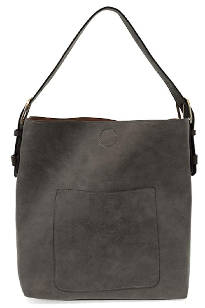 Charcoal Black Handle Joy Susan Classic Hobo Handbag