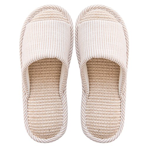 Spring Lovely Slip 39 a Couples 38 Linen Slippers Cool Slippers Summer and with C A Wooden Floor Non Female fankou Indoor Male Stay Thick 4dpq4