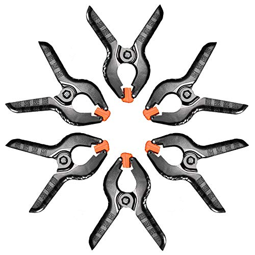 LYLYCTY Spring Clamp |6-Pack| 4 inch Heavy Duty Metal Spring Clips Set Muslin Clamps for Photo Studio Backdrops ()